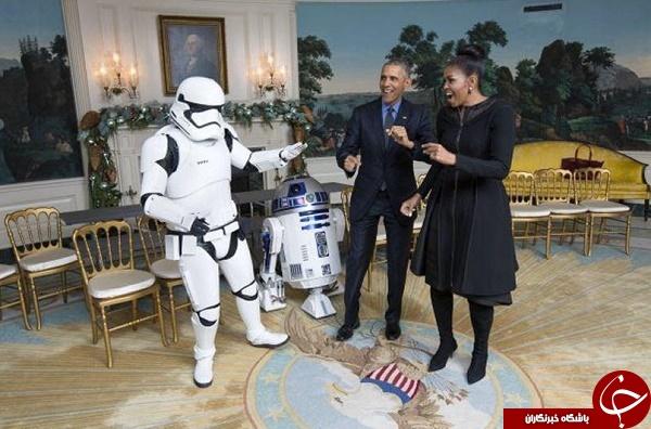 جنگ ستارگان در کاخ سفید! + تصاویر