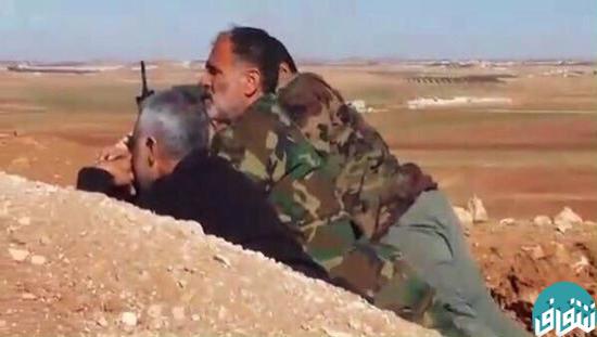 تصاویر/ سردار سلیمانی در خط مقدم مبارزه علیه داعش