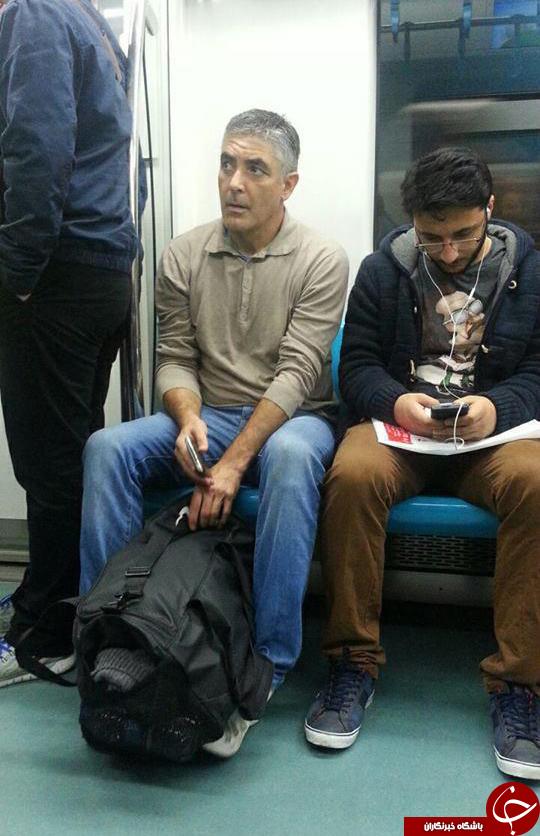 جرج کلونی در مترو تهران + عکس