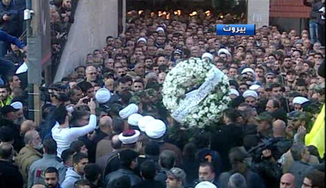 مراسم تشییع پیکر «سمیر قنطار» در بیروت برگزار شد
