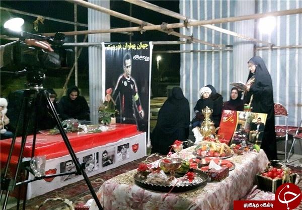 شب یلدای خانواده نوروزی در کنار مزار کاپیتان + عکس