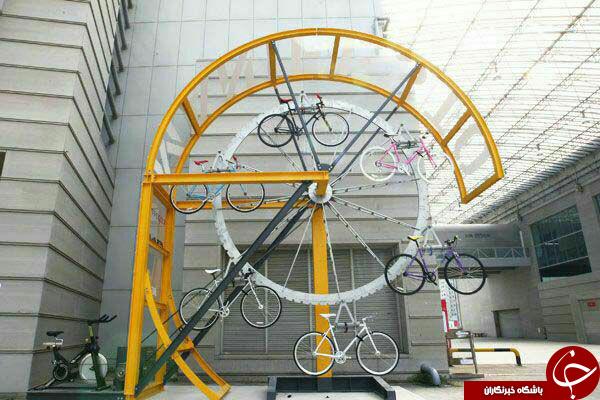 المانهای خلاقانه برای قفل دوچرخه درسطح شهر+عکس