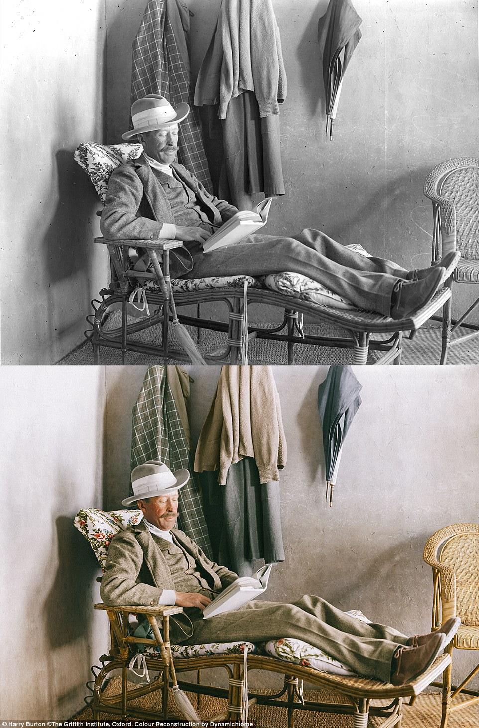 رنگی کردن عکسهای سیاه و سفید کشف مقبره فرعون + تصاویر