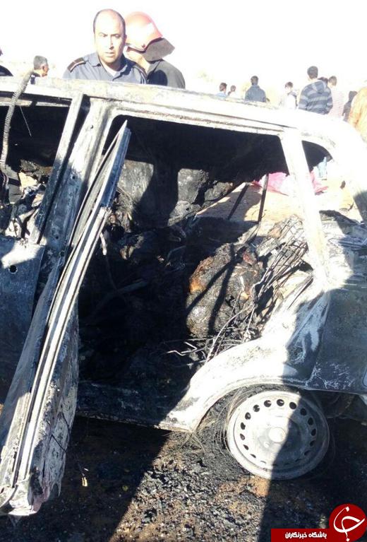 تصادف دیروز در جاده خرامه شیراز با 4 کشته + تصاویر