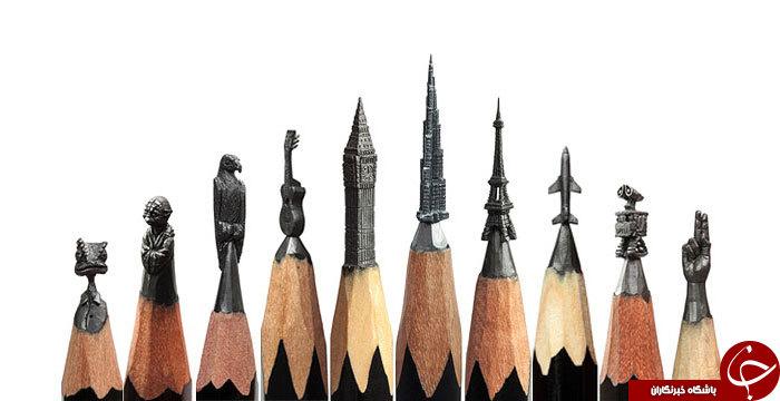 هنرنمایی روی نوک مداد