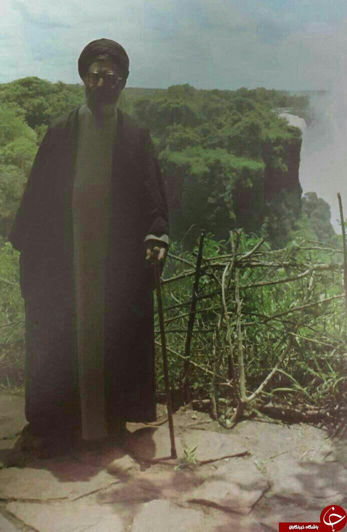 رهبر انقلاب در کنار آبشار ویکتوریا + عکس