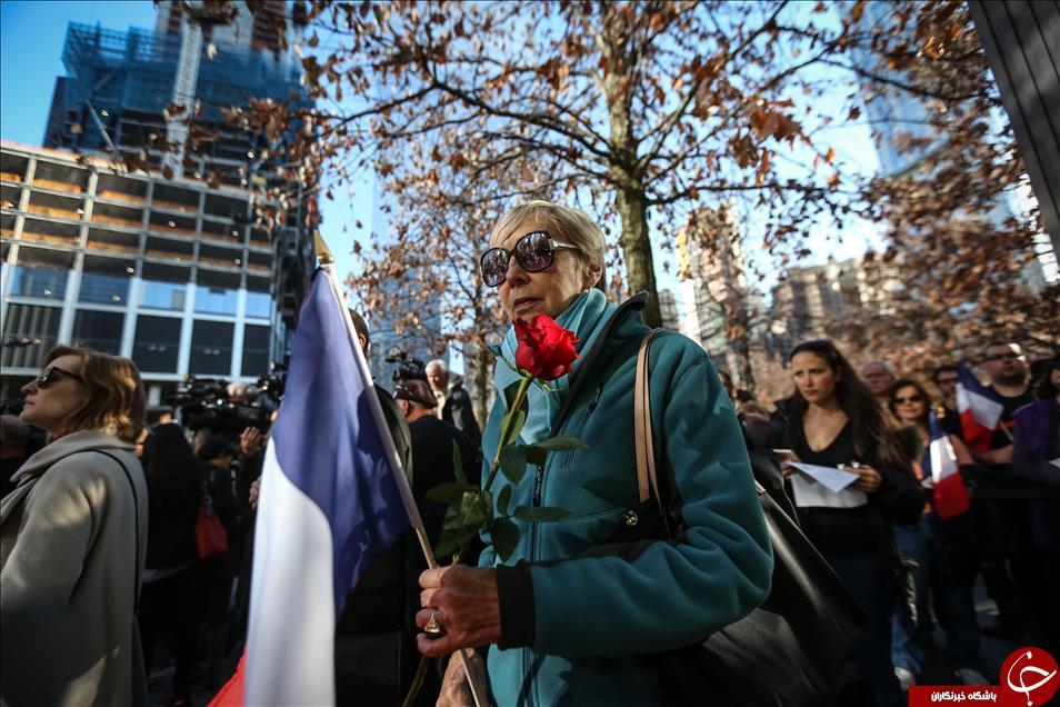 مراسم بزرگداشت قربانیان حوادث تروریستی اخیر پاریس + عکس
