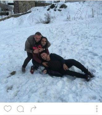 تصاویری از خوشگذرانی بازیکن استقلال در ارتفاعات تهران