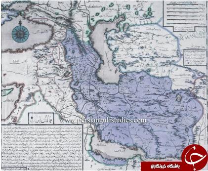 نقشه ایران در 286 سال قبل!