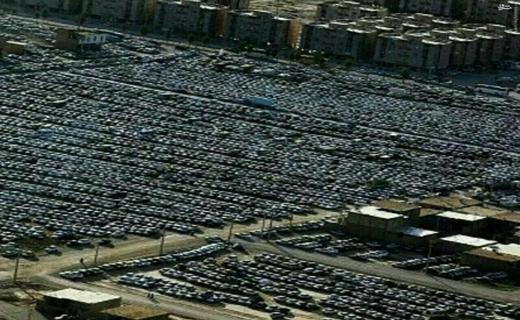 عکس/ پارکینگ خودرو زائران در مرز مهران