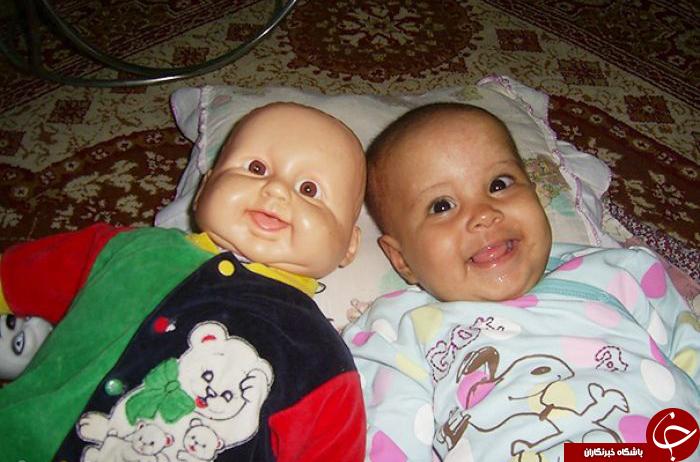 شباهت جالب وباورنکردنی بچه ها به عروسک هایشان+عکس