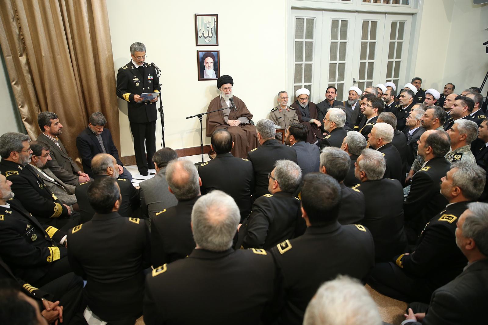 بیانات رهبر انقلاب در دیدار فرماندهان و مسئولان نیروی دریایی ارتش