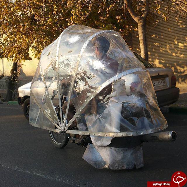 موتور سیکلت فضایی در تهران+عکس