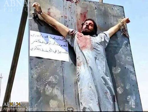 داعش جوان سنی را به صلیب کشید+عکس