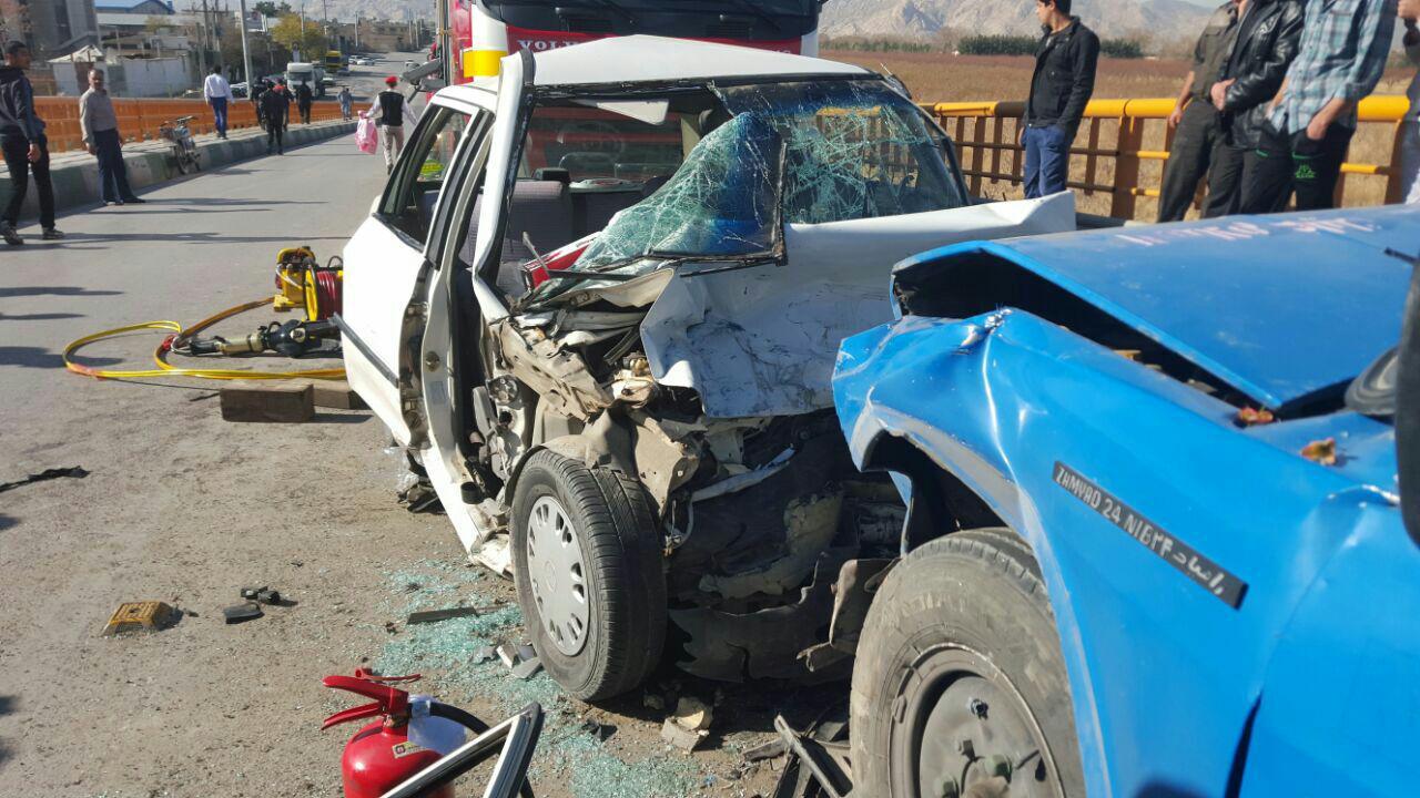 ۴ کشته در تصادف پژو ۴٠۵ با وانت نیسان