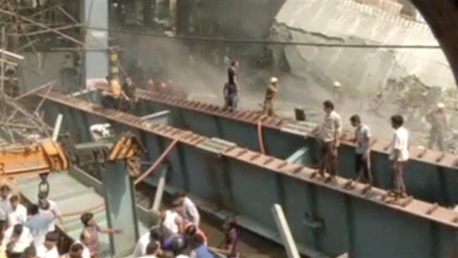 ریزش پل در کلکته هند