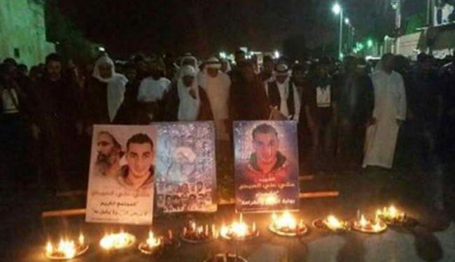 تشییع پیکر جوان شهید عربستانی در میان خشم مردم+ تصاویر