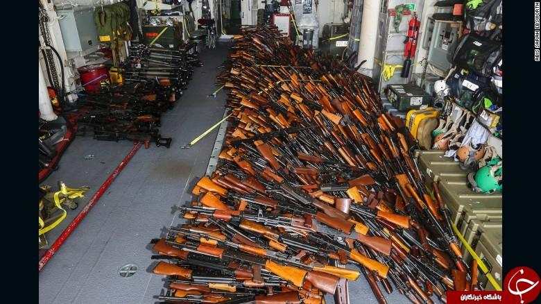 توقیف کشتی حامل تسلیحات ایران در اقیانوس هند