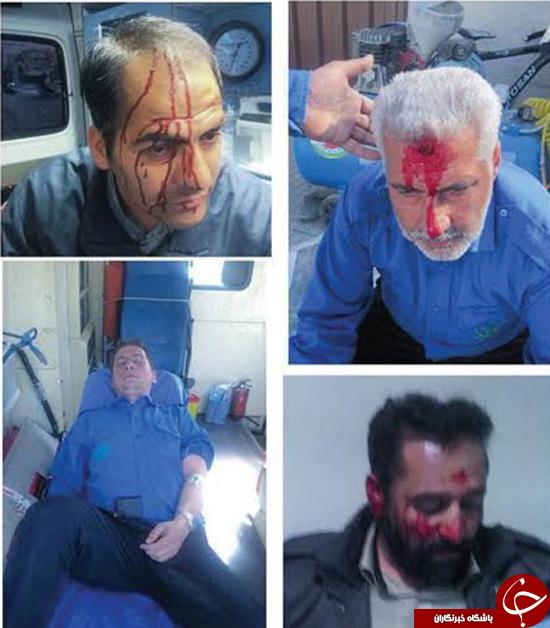 مصدومیت 14 پرسنل شهرداری در درگیری با اوباش+تصاویر