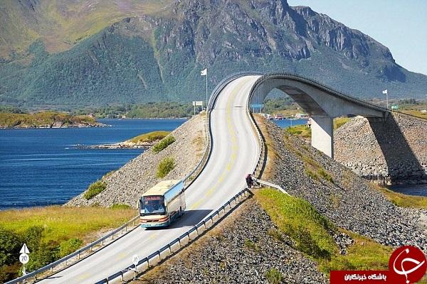 رانندگی در این جاده ها لذت دوچندانی دارد +عکس