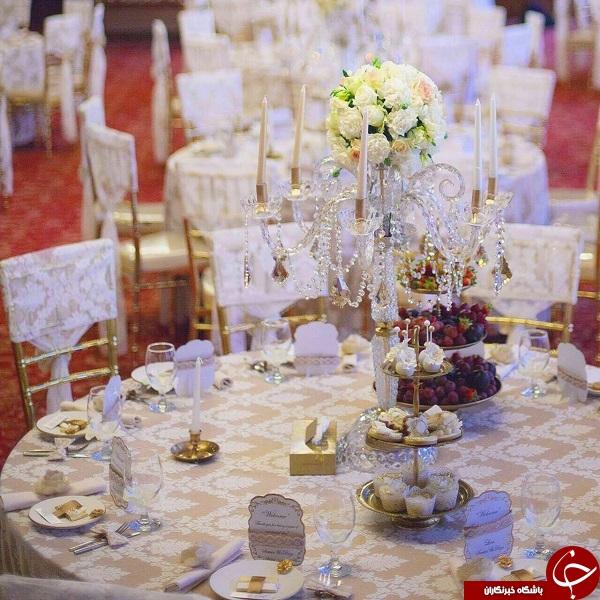 آراستن سالن ازدواج قوچان نژاد توسط همسرش +عکس