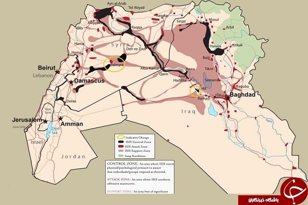 چه وسعتی از سوریه در دست است +عکس