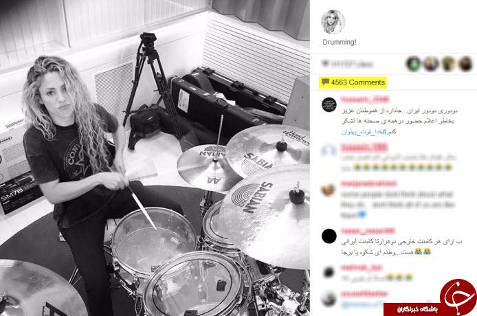 اینستاگرام شکیرا در تسخیر کاربران ایرانی +عکس
