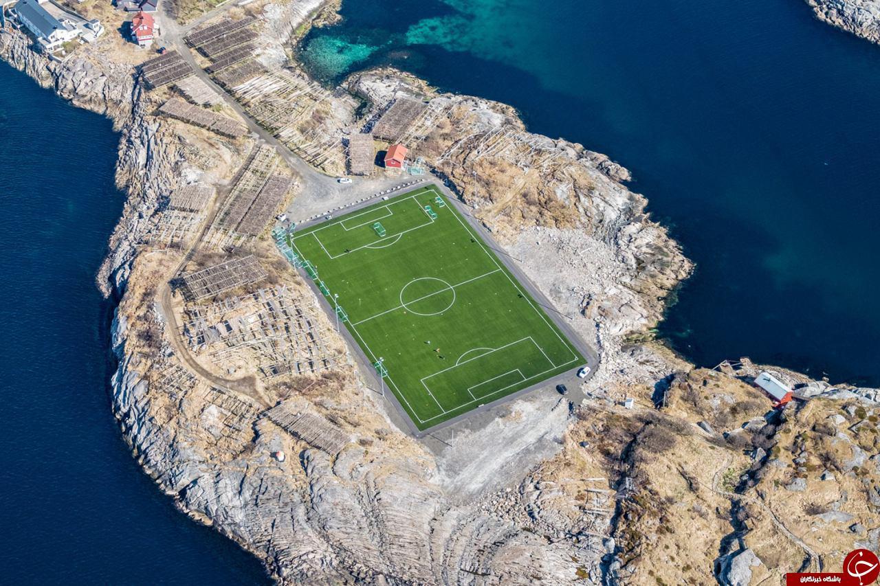 عجیب ترین زمین فوتبال دنیا+عکس