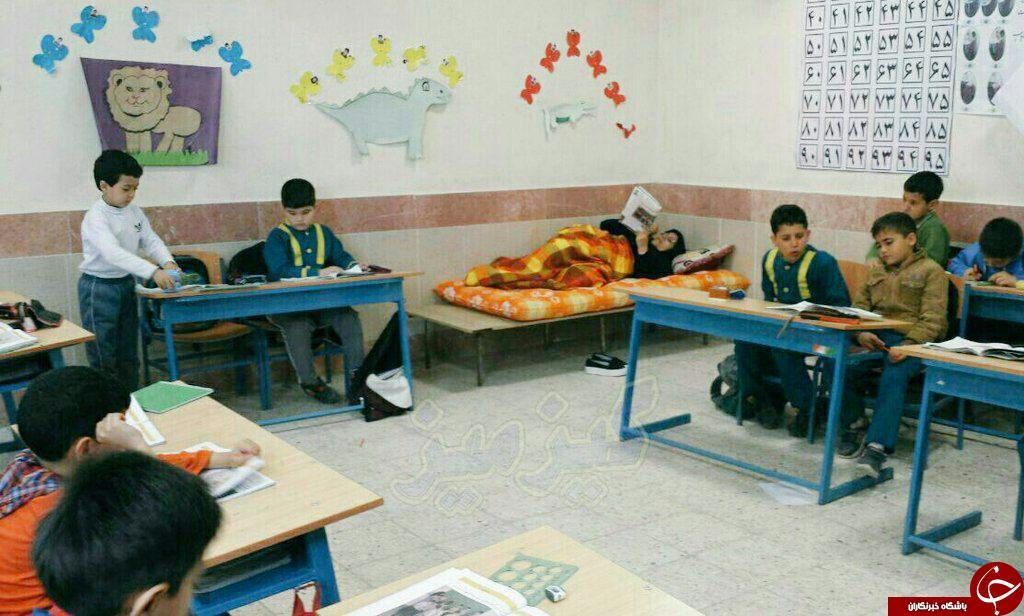 درس معلمی از درون تختخواب+تصویر