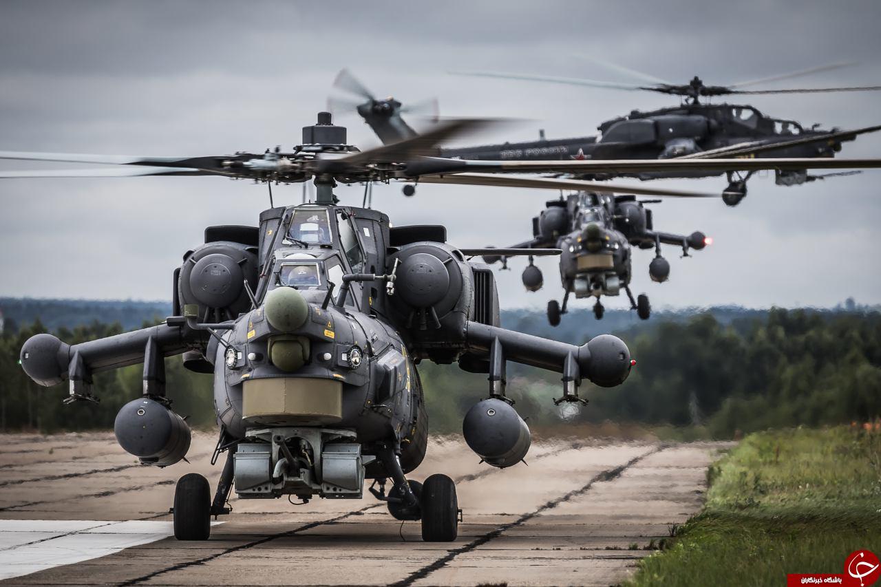 لحظه انحدام خوررو فراری داعشی با mi-28+ عکس و فیلم