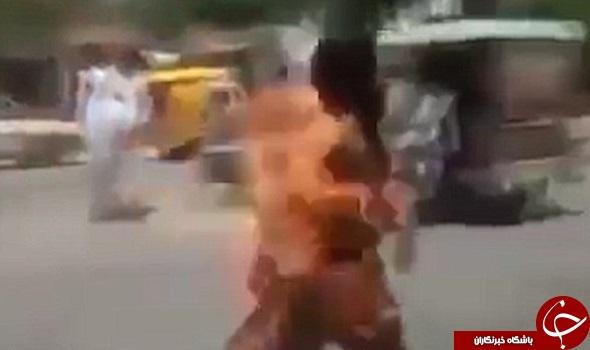 مرد پاکستانی در آتش گوشی تلفن سوخت +عکس و فیلم (+18)
