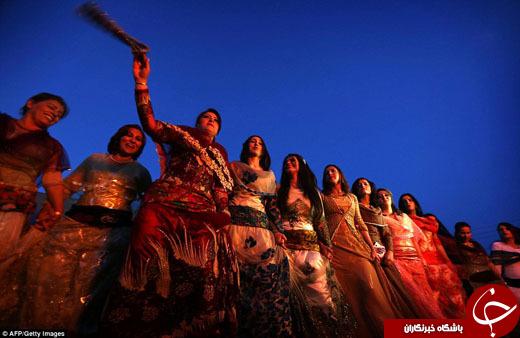 زنان پیشمرگه در میدان جنگ با داعش، نوروز را جشن گرفتند+تصاویر