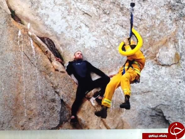 خواستگاری رمانتیک با کمک نیروهای امداد و نجات +تصاویر