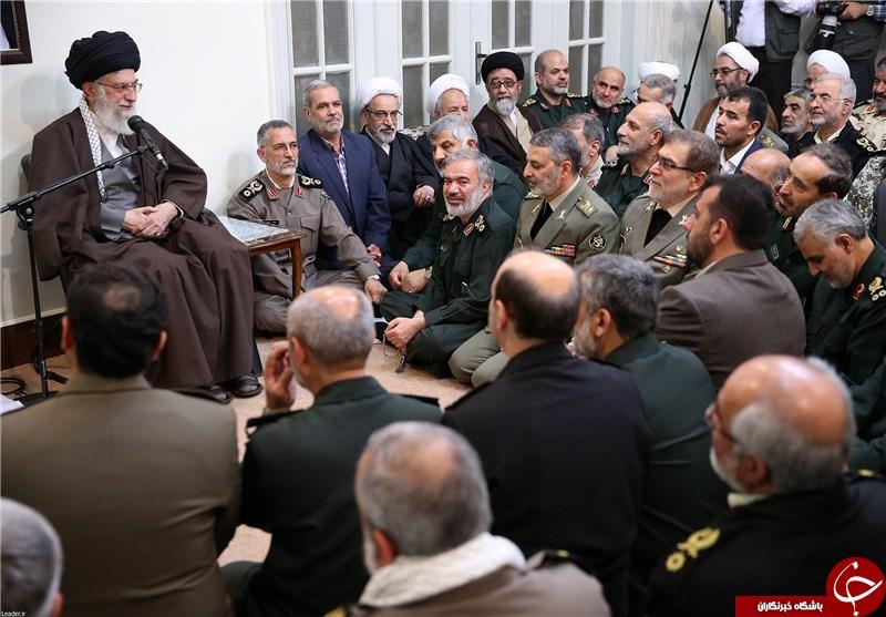 دیدار فرمانده سپاه قدس با رهبری + عکس