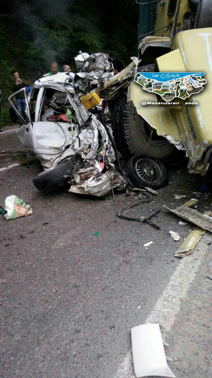 تصادف دلخراش در جاده هراز + عکس