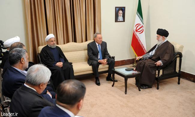 رییس جمهور قزاقستان با رهبر معظم انقلاب اسلامی دیدار کرد