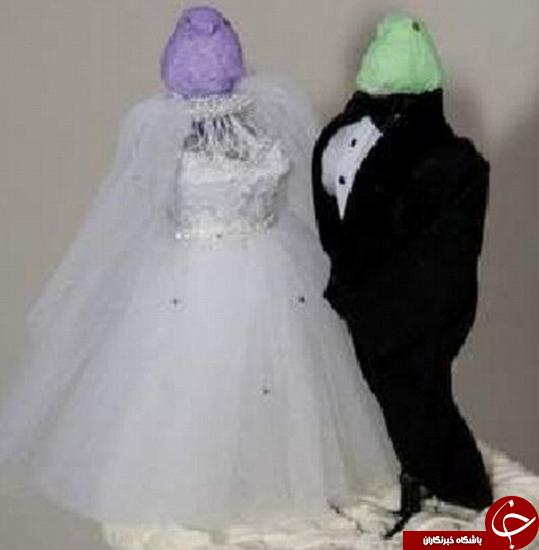 بدترین کیکهای عروسی که تا به حال درست شدهاند + تصاویر