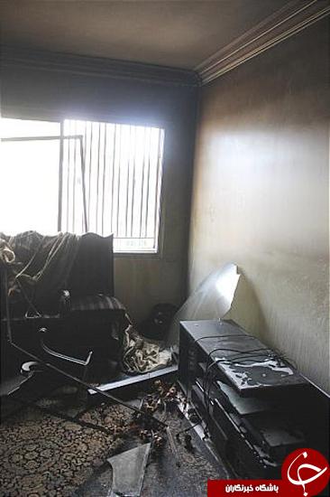 اتو، واحد مسکونی را به آتش کشید + تصاویر