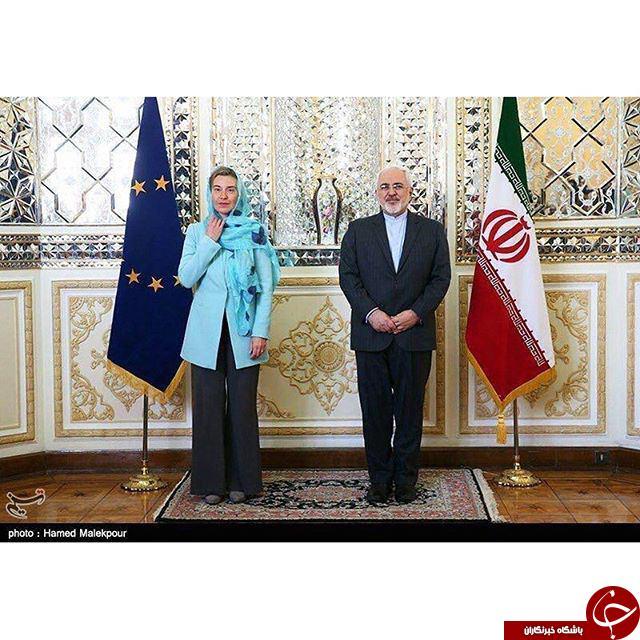 موگرینی با چه حجابی وارد تهران شد؟+تصاویر