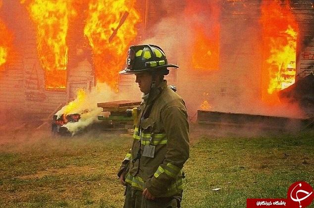قتل آتشنشان در حین ماموریت+تصاویر