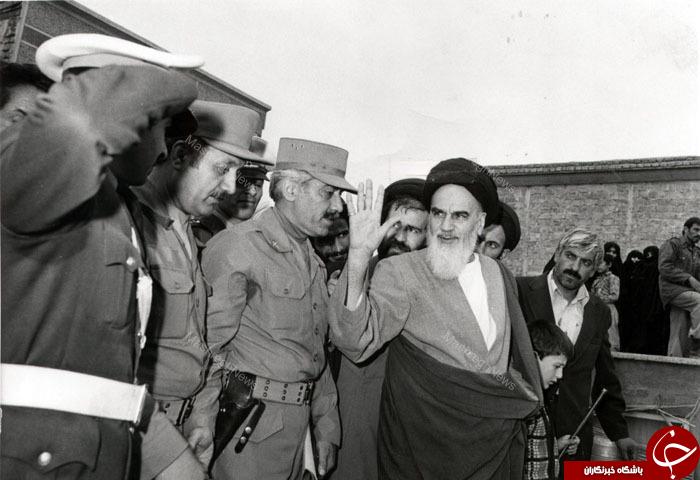اولین رژه ارتش در مقابل امام خمینی(ره)+تصاویر