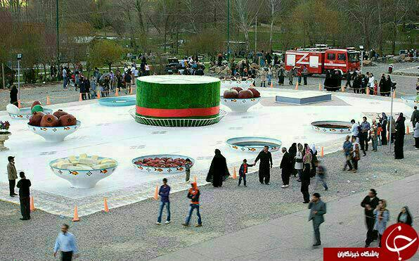 بزرگترین سفره هفت سین جهان در دامنه کوه زیبای بیستون کرمانشاه /// بزرگترین سفره هفت سین یکی از شهرهای ایران زمین
