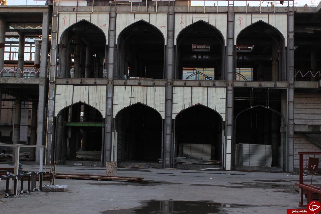 ساخت نشانی از بانوی بی نشان / بزرگترین صحن جهان اسلام +تصاویر