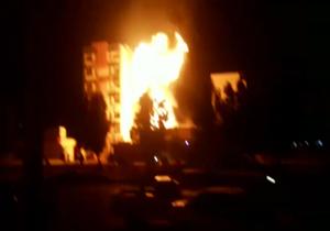 تخریب و آتشسوزی به علت انفجار کپسول LPG  در اهواز + فیلم