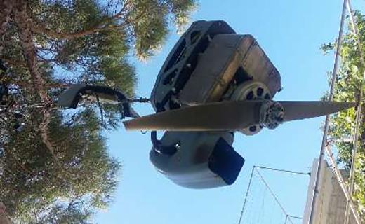 سقوط پهپاد ارتش لبنان در باغچه یك خانه