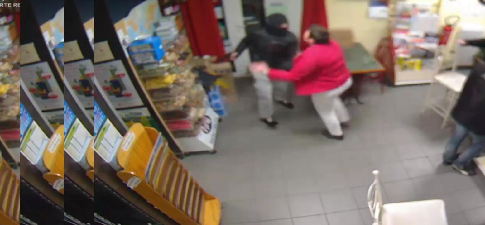 کتک کاری زن جسور فرانسوی با دزد مسلح + فیلم و تصاویر