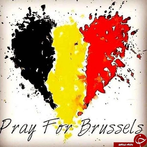 جهان با بلژیک همدردی کرد/ برج های دنیا به رنگ پرچم بلژیک +تصاویر