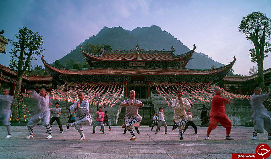 تمرینات سخت راهبان معبد شائولین+تصاویر