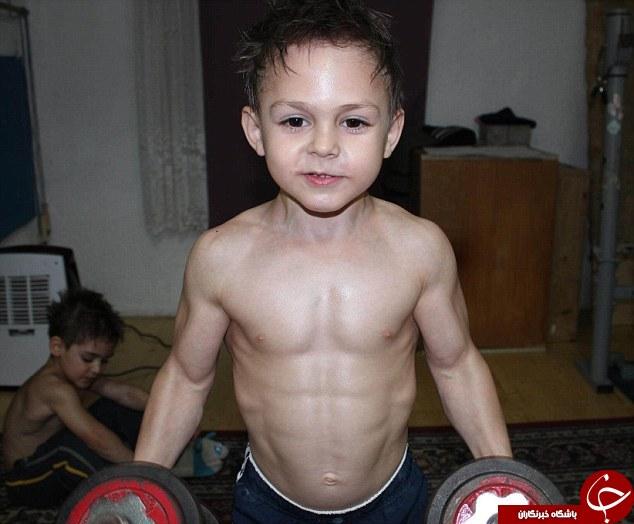 کودک بدنساز رومانیایی که لقب هرکول گرفت+تصاویر