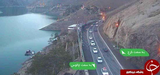 ترافیک نیمه سنگین در محور کرج - چالوس/ هراز امروز یکطرفه میشود